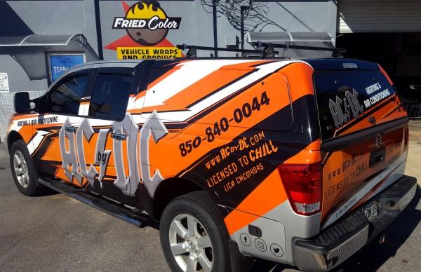 Ac Dc Truck Wrap Fried Color