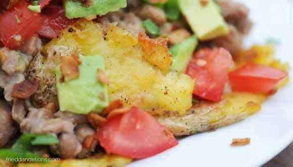 Baked Potato Nachos—Fried Dandelions