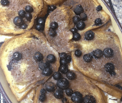 Cinnamon Swirl Blueberry Breakfast Bake Recipe