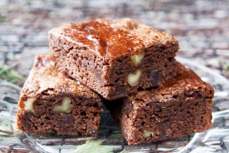 Glutenfrie veganske brownies uten egg