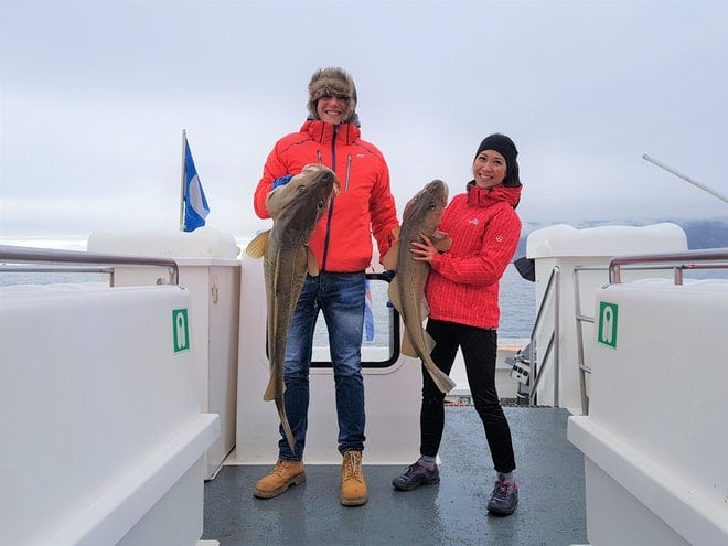 Sea angling friend in iceland