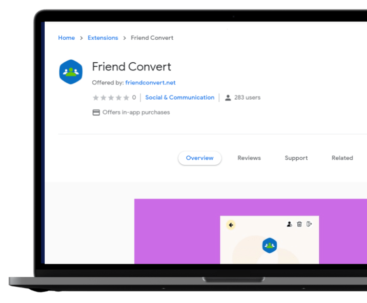 Friend Convert Lets You Add Targeted Friends From Any Facebook Group.