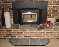 Efficient Wood Fireplace Insert with Hearth Extension ...
