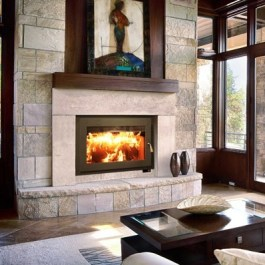 Medium Wood Fireplaces