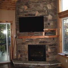 Valor Gas Fireplace installed by Friendly Fires in Lakefield, Ontario