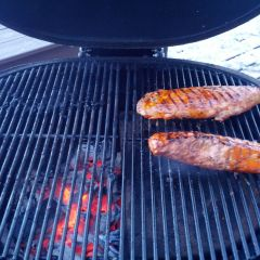 Primo Oval XL BBQ Food: Pork Tenderloin Indirect