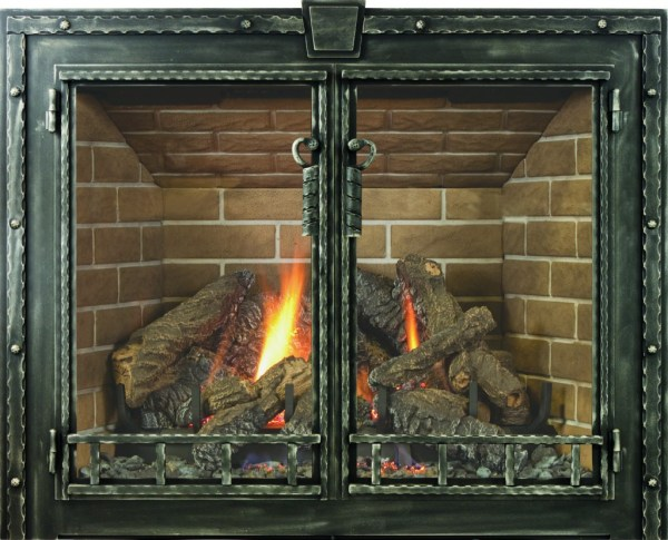 Wood-Burning Fireplaces with Doors