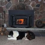 Friendly Fires Cobourg customer enjoying the heat.