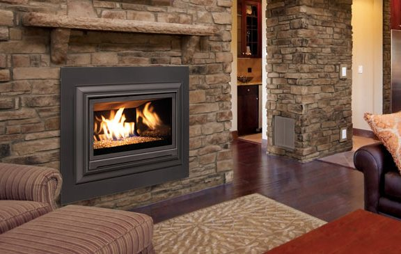 Enviro E30 Fireplace Insert Stone Glass Media