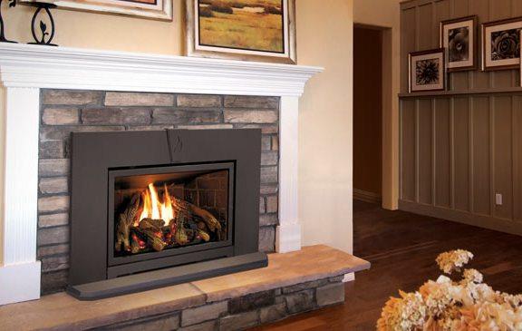 Enviro E30 Fireplace Insert White Mantle