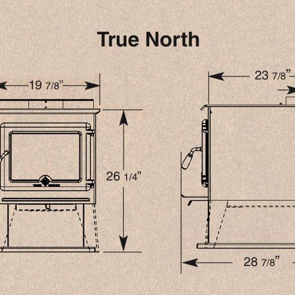 PE True North Sizes