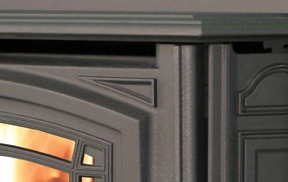 Enviro Boston Wood Insert Cast Iron Detail