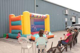Kids had a blast bouncing around