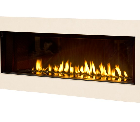 Valor L2 Linear Gas Fireplace Fluted 2 Sandstone Surround