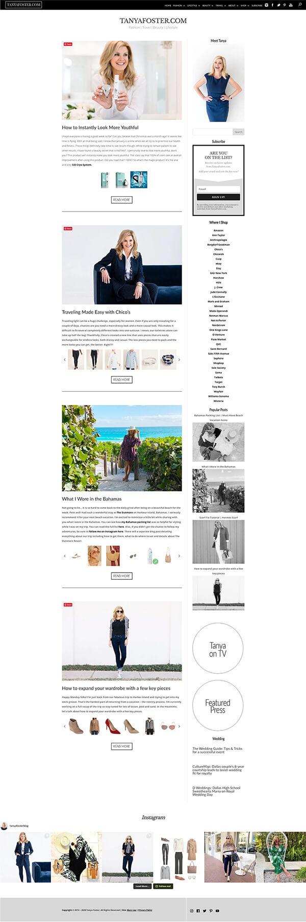 Tanya Foster website