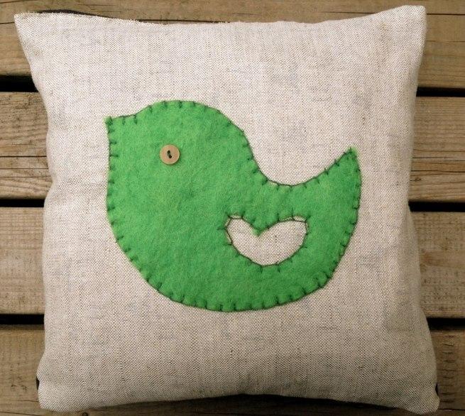 Appliqued pillow