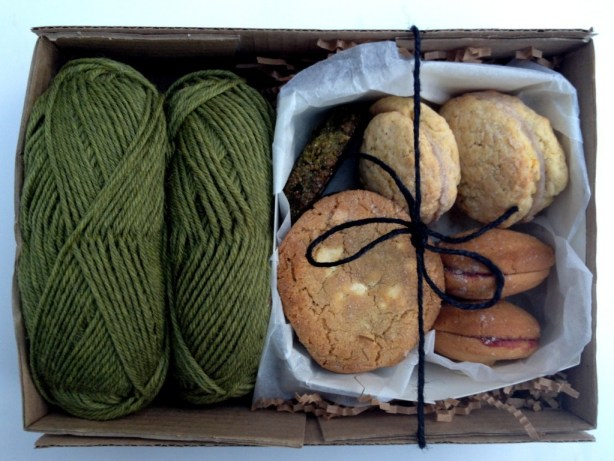 crocheting kit with cookies