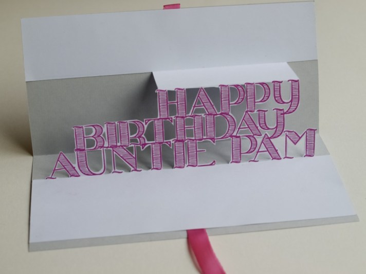 Say it in 3D: make a pop up greeting card