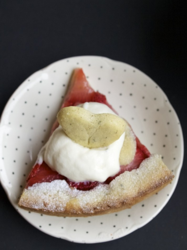 Valentine's day strawberry tart recipe