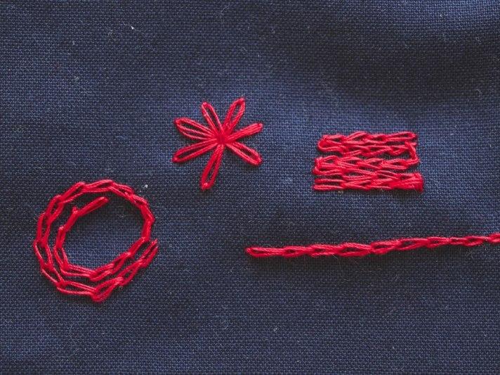 Chain stitch variations