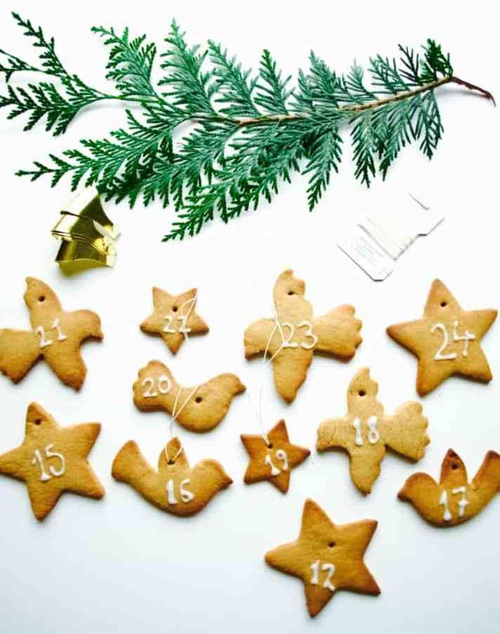 Gingerbread cookie advent calendar