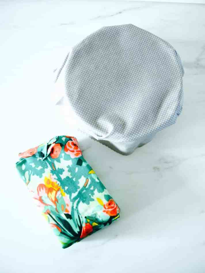 Reusable food wrap DIY (with wax and resin)