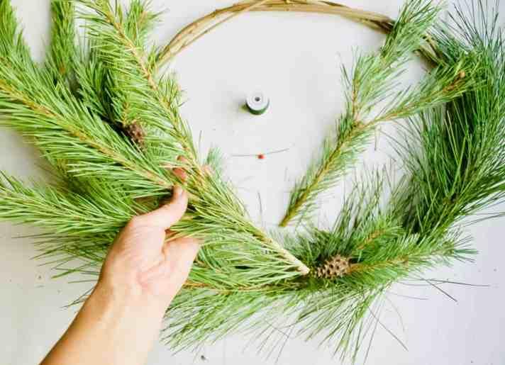 Foraged winter wreath DIY