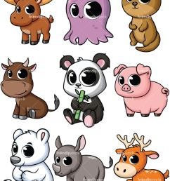 baby animals collection 4 vector cartoon clipart [ 800 x 1067 Pixel ]