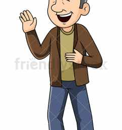 mature man talking and laughing during a conversation vector cartoon clipart [ 800 x 1200 Pixel ]