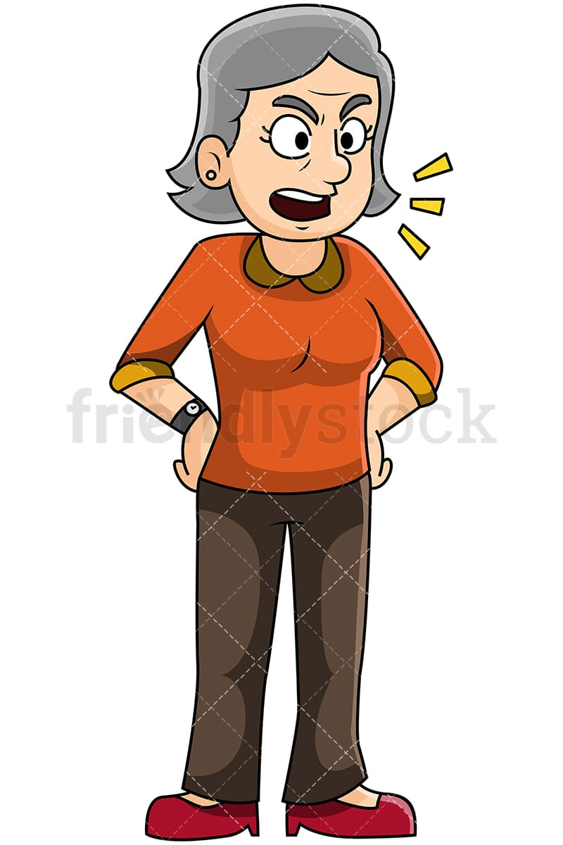 hight resolution of angry mature woman talking image isolated on transparent background png