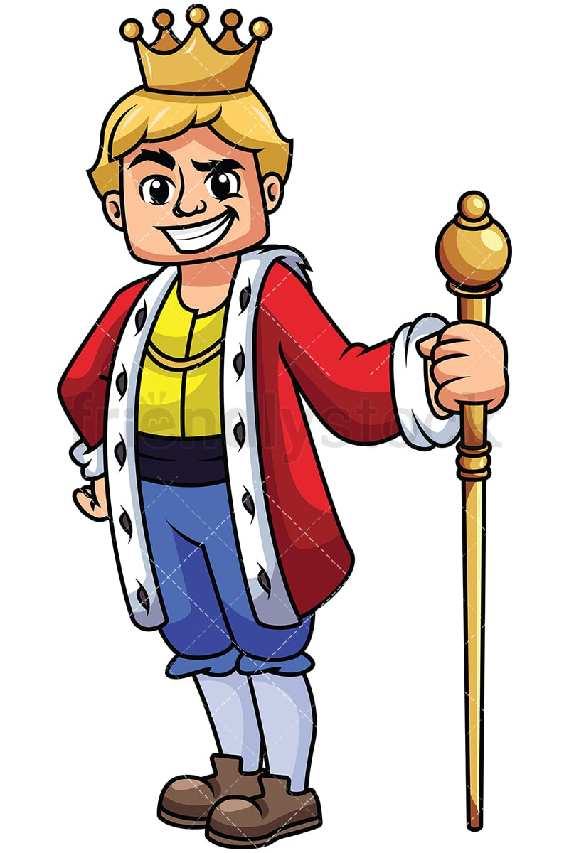 hight resolution of young king holding scepter image isolated on transparent background png