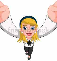 business woman cheering top view image isolated on transparent background png [ 1067 x 800 Pixel ]