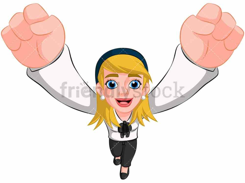 medium resolution of business woman cheering top view image isolated on transparent background png