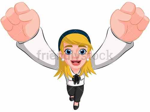 small resolution of business woman cheering top view image isolated on transparent background png