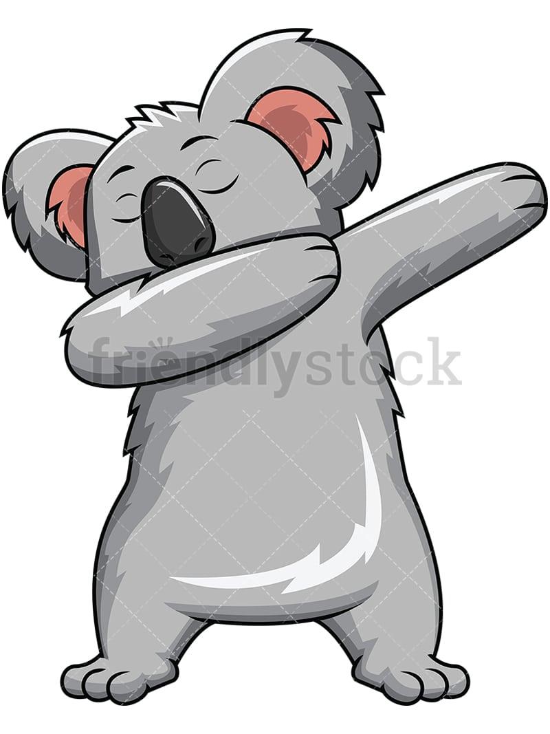 medium resolution of dabbing koala bear vector cartoon clipart