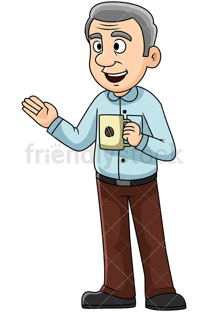 hight resolution of mature man talking over coffee image isolated on transparent background png