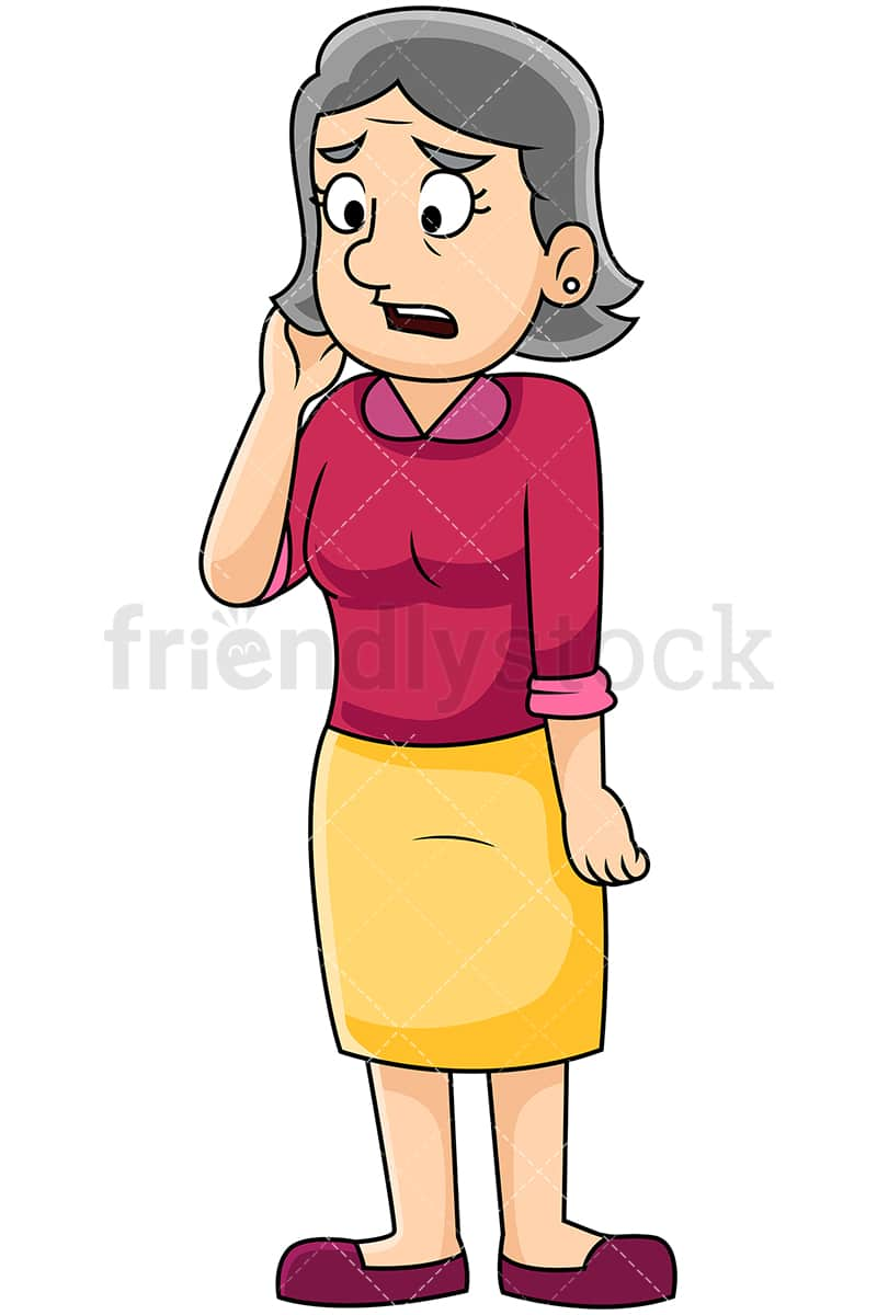 hight resolution of irritated mature woman talking sadly image isolated on transparent background png