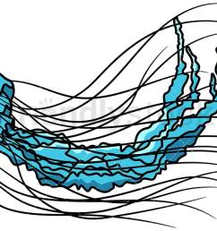 blue jellyfish vector cartoon clipart [ 1200 x 675 Pixel ]