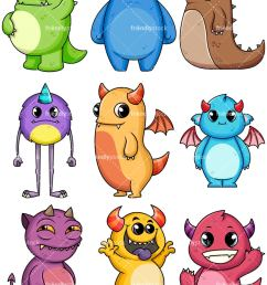 monsters collection 2 vector cartoon clipart [ 800 x 1067 Pixel ]