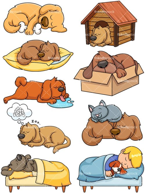 small resolution of sleeping dogs collection vector cartoon clipart
