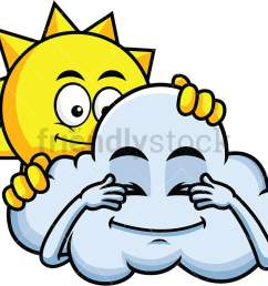 sun and cloud playing hide and seek emoticon png jpg and vector eps file [ 1067 x 800 Pixel ]