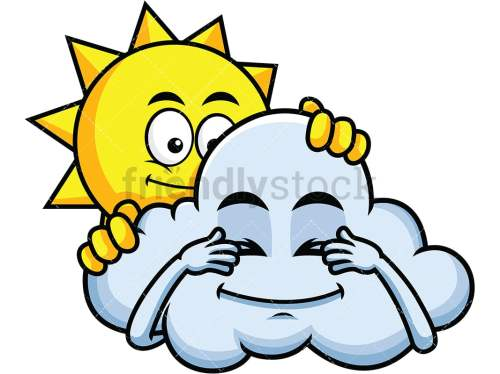 small resolution of sun and cloud playing hide and seek emoticon png jpg and vector eps file