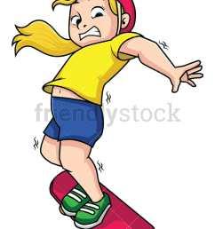 woman falling from skateboard vector cartoon clipart [ 800 x 1067 Pixel ]