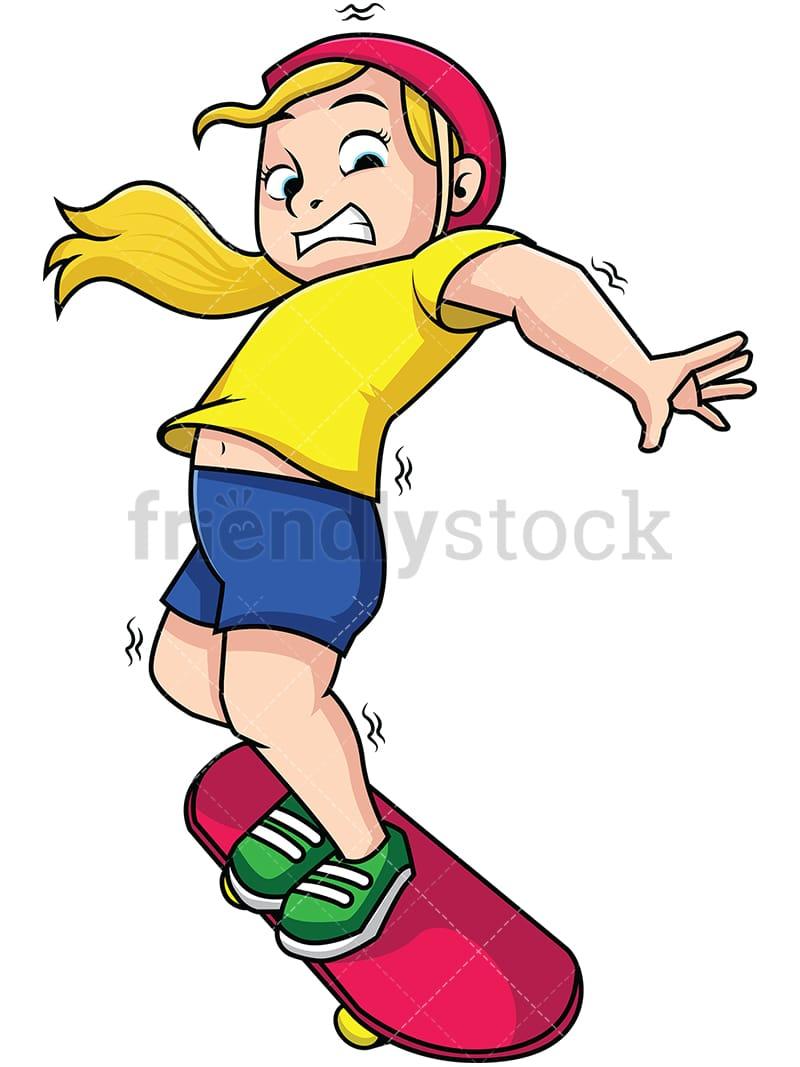 hight resolution of woman falling from skateboard vector cartoon clipart