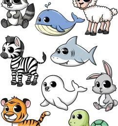baby animals collection 5 vector cartoon clipart [ 800 x 1067 Pixel ]