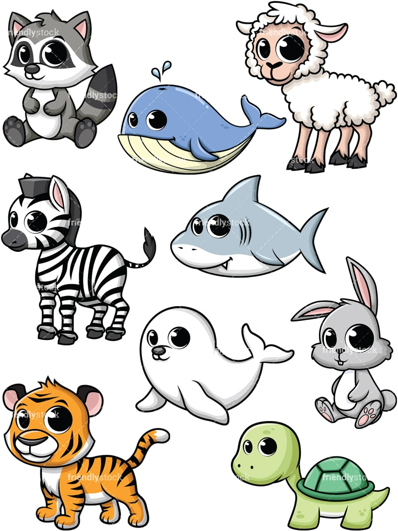 hight resolution of baby animals collection 5 vector cartoon clipart