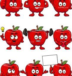 apple mascot collection vector cartoon clipart [ 800 x 1067 Pixel ]