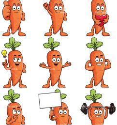 carrot mascot collection vector cartoon clipart [ 800 x 1067 Pixel ]