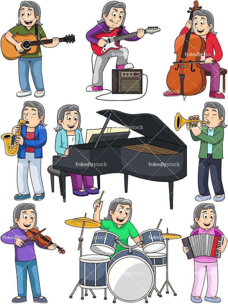 medium resolution of music collection margaret vector cartoon clipart