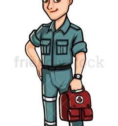 paramedic holding first aid kit vector cartoon clipart [ 800 x 1200 Pixel ]